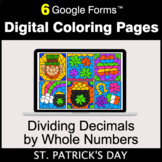 St. Patrick's Day: Dividing Decimals by Whole Numbers - Di