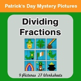 St. Patrick's Day: Dividing Fractions - Color-By-Number My