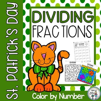 St. Patrick's Day Dividing Fractions Color by Number