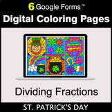 St. Patrick's Day: Dividing Fractions - Google Forms | Dig