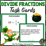 Dividing Fractions Task Cards (St Patrick's Day)