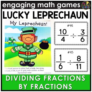Saint Patrick's Day Dividing Fractions by Fractions Game