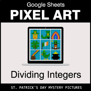St. Patrick's Day - Dividing Integers - Google Sheets Pixel Art