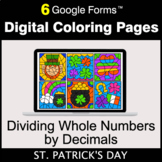St. Patrick's Day: Dividing Whole Numbers by Decimals - Di