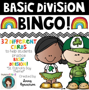 St. Patrick's Day Division BINGO! 32 Different Cards!