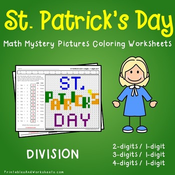 St. Patrick's Day Division Coloring Worksheets