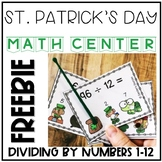 St. Patrick's Day Division Interactive Task Cards