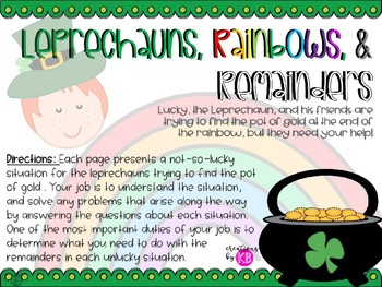 St. Patrick's Day Division, Remainders, and Rainbows