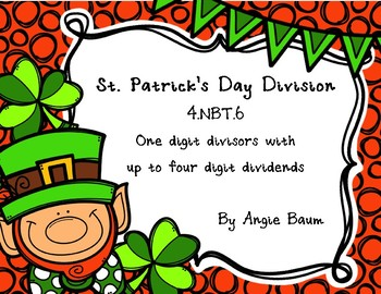 St. Patrick's Day Division Task Cards