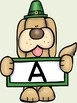 St. Patrick's Day Dog Alphabet Letter Posters Uppercase and Lowercase