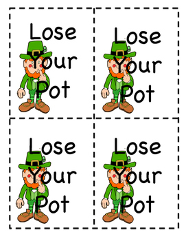 St. Patrick's Day Dolch Pre-Primer Sight Word Game