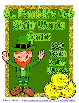 St. Patrick's Day Dolch Bundle- All 220 Dolch Sight Words