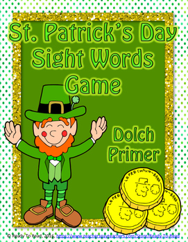St. Patrick's Day Dolch Primer Sight Word Game