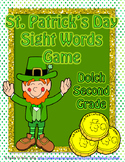 St. Patrick's Day Dolch Second Grade Sight Word Game