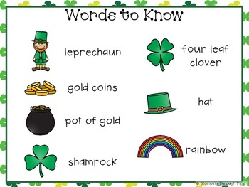 Sight Word Sentence Strips: St. Patrick's Day