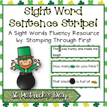 Sight Word Sentence Strips: St. Patrick's Day