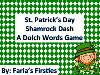 St. Patrick's Day Dolch Words Dash BUNDLE!