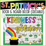 St. Patrick's Day Door & Board Decor {Editable!}