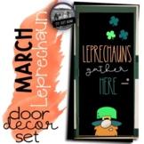 St. Patrick's Day Door Leprechaun Door March Bulletin Board