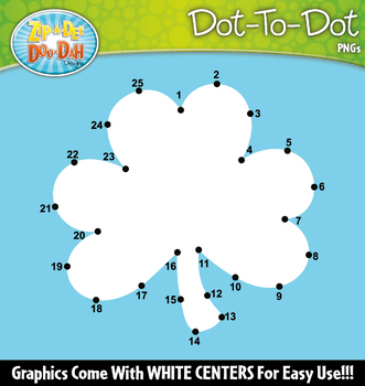St Patrick's Day Dot-To-Dot Clipart {Zip-A-Dee-Doo-Dah Designs}