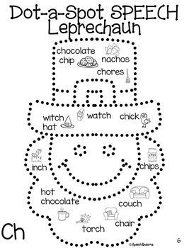 St. Patrick's Day Dot a Spot Speech Therapy Pokey Art Craft