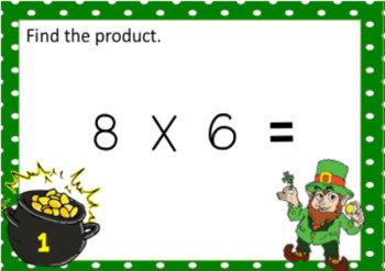 St. Patrick's Day Double Digit Multiplication Task Cards