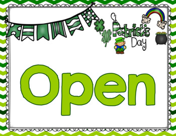 St. Patrick's Day Dramatic Play and Writing Center