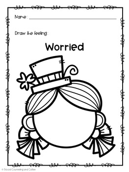 St. Patrick's Day Draw-A-Feeling-Elementary School Counseling Feelings Activity