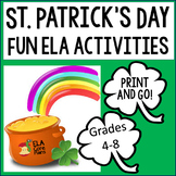 St. Patrick's Day ELA Activities for Grades 4-8