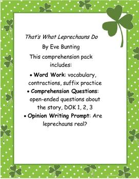 St. Patrick's Day ELA Pack