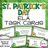 St. Patrick's Day ELA Task Cards (Parts of Speech, Synonyms, ABC Order)