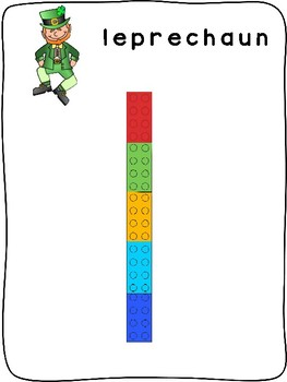 St. Patrick's Day - ENGLISH - Plastic building block activity mats