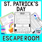 St. Patrick's Day ESCAPE ROOM - March - Print and go!