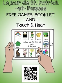 St. Patrick's Day / Easter - FRENCH - Touch & Hear plus games & workbook free!