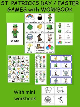 St. Patrick's Day / Easter  FRENCH Workbook & Games Package - FREE!
