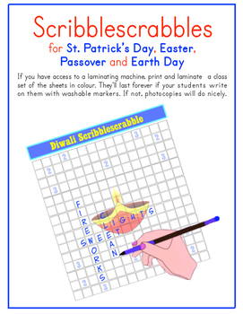 St. Patrick's Day, Easter, Passover & Earth Day (English, French, Spanish &...)