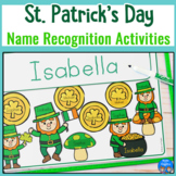 St. Patrick's Day Editable Name Activities