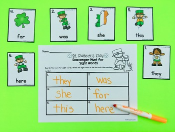 St. Patrick's Day Editable Sight Word Activities