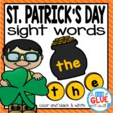St. Patrick's Day Editable Sight Word Activity