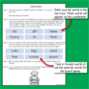St Patrick's Day Editable Sight Words and Game