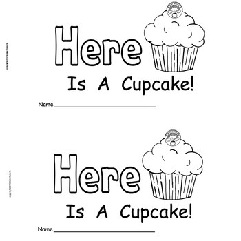 St. Patrick's Day Cupcake   Emergent Reader   Build-A-Word Book  Sight Word HERE