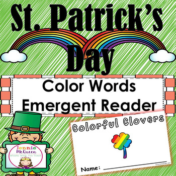 St Patrick's Day Emergent Reader: Color Words!