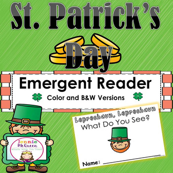 St. Patrick's Day Emergent Reader: Leprechaun, Leprechaun What Do You See?