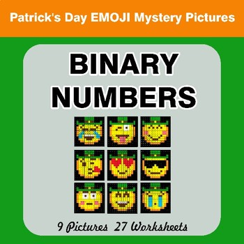 St. Patrick's Day Emoji: Binary Numbers