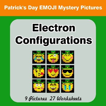 St. Patrick's Day Emoji: Electron Configurations - Mystery Pictures
