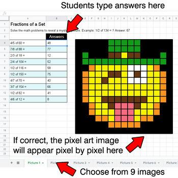 St. Patrick's Day Emoji - Fractions of a Set - Google Sheets Pixel Art