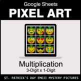 St. Patrick's Day Emoji - Multiplication - Google Sheets Pixel Art