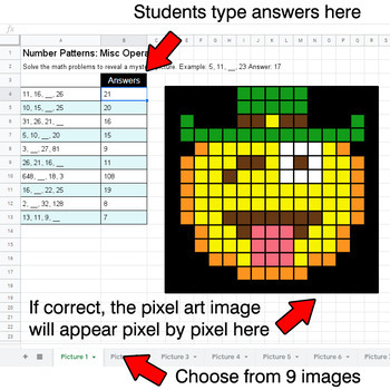 St. Patrick's Day Emoji - Number Patterns: Misc Operations - Google Sheets