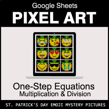 St. Patrick's Day Emoji: One-Step Equations - Multiplication & Division