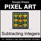 St. Patrick's Day Emoji - Subtracting Integers - Google Sh